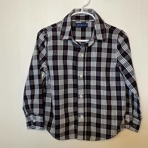 Andy & Evan 4T button down black red white shirt